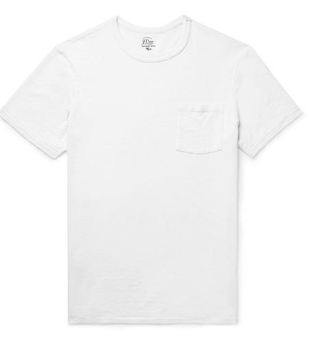 Camiseta blanca J.CREW, camiseta blanca hombre