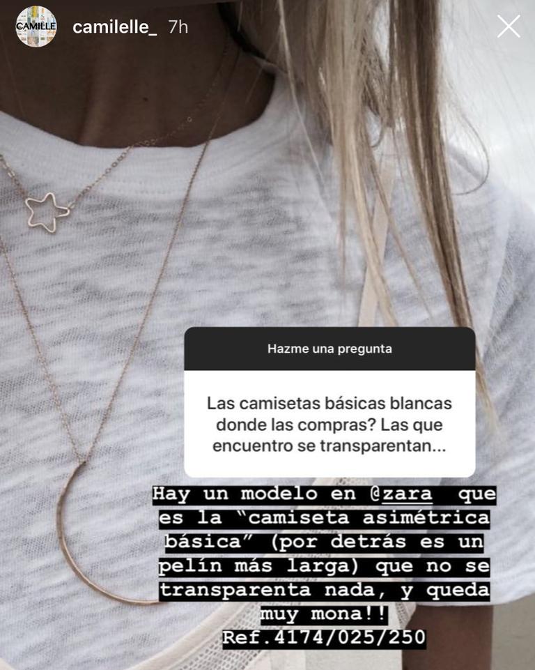 c3a501ee3ea0 Zara tiene sólo una camiseta básica blanca perfecta y la ha descubierto una  instagramer española (y ha compartido su referencia)