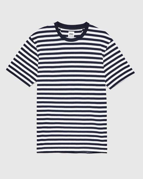 Camiseta de rayas básica de Zara (9,95 euros)