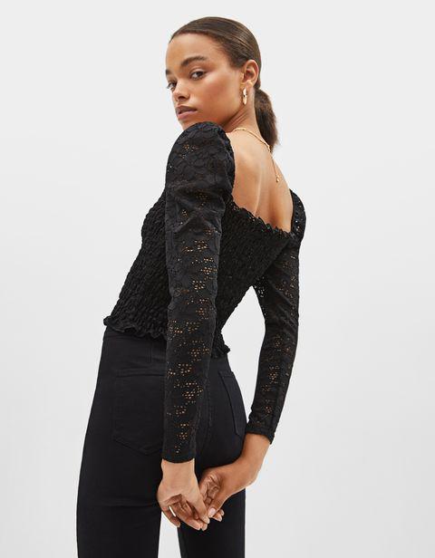 talla 7 mitad de descuento al por mayor Esta es la camiseta negra de encaje de fiesta de Bershka más ...