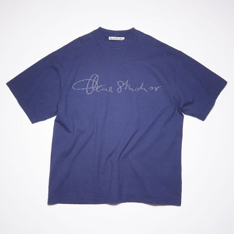 camiseta oversize con logo de acne studios 230 euros