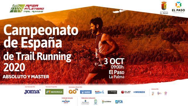 cartel del campeonato de españa de trail running de el paso