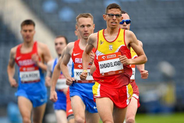 el atleta español yassine ouhdadi en el europeo de atletismo adaptado de polonia 2021