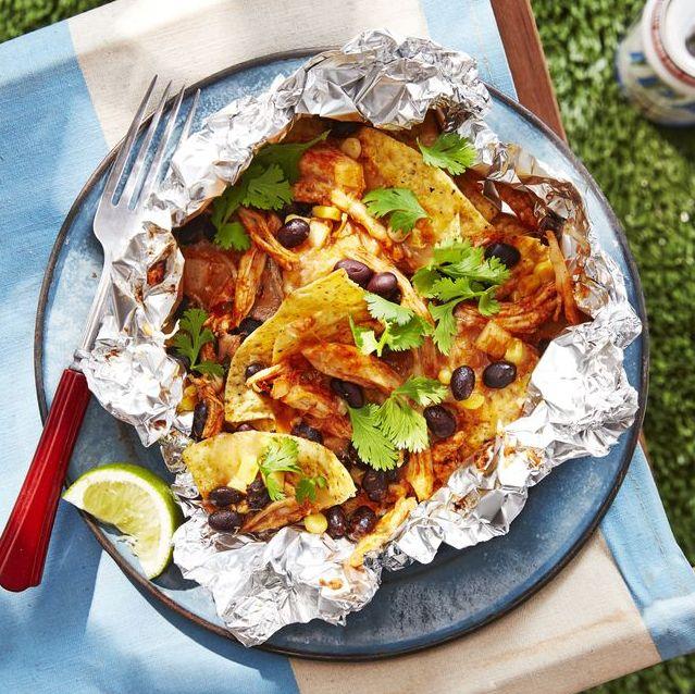campfire recipes chicken black bean nachos