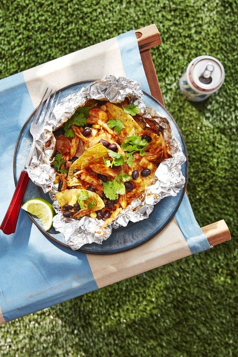 campfire recipes chicken black bean nachos