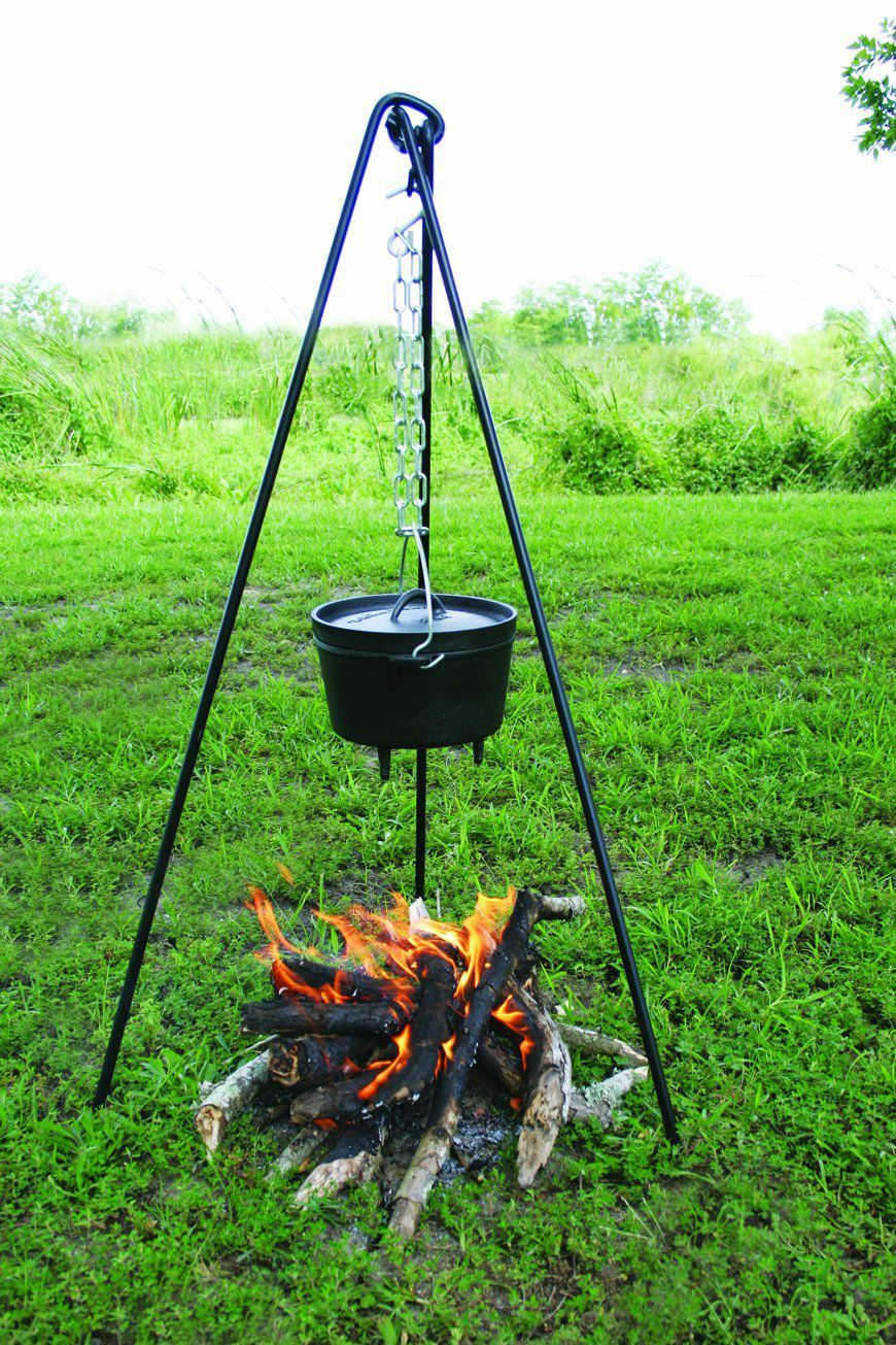 camping cookware campfire tripod