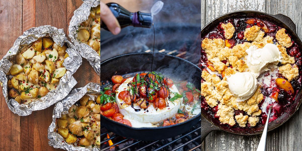 Camping Recipes From Cheesy Foil Pack Potatoes To Campfire Caprese Brie