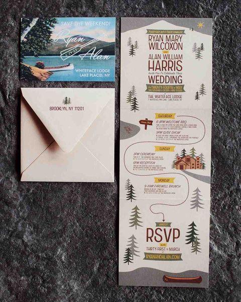 camping wedding invitations