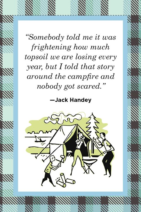 Jack Handey camping quote