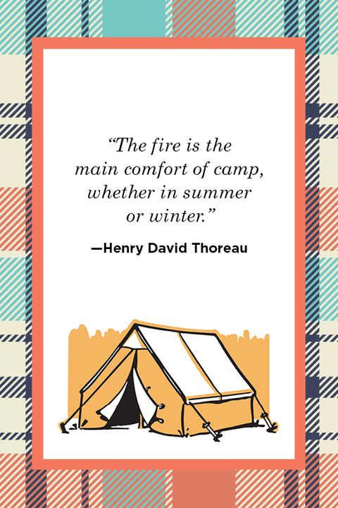 Henry David Thoreau Camping Quote