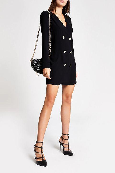 Black and white gingham midi dress sleeves