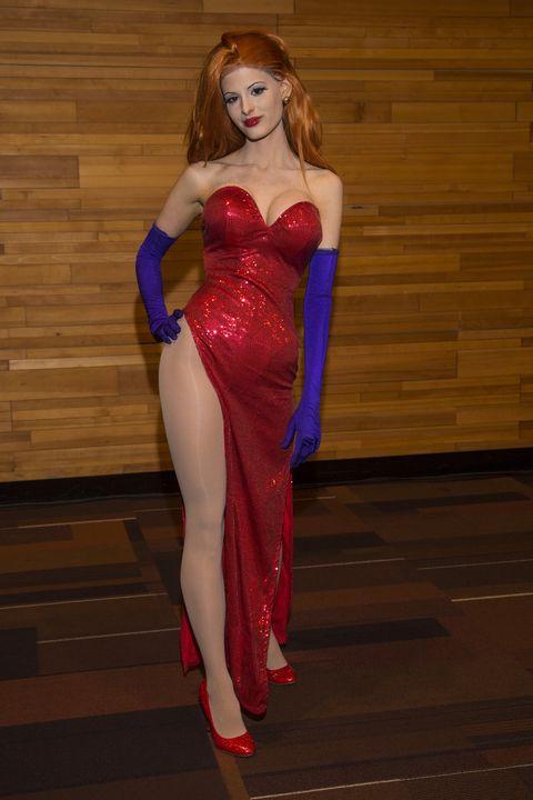 redhead halloween costume jessica rabbit