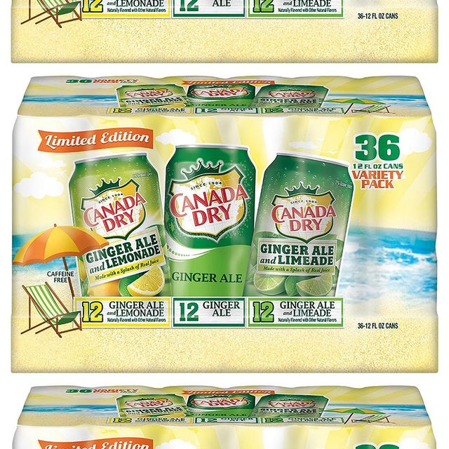 canada dry's limited edition summer variety pack with the ginger ale and limeade soda