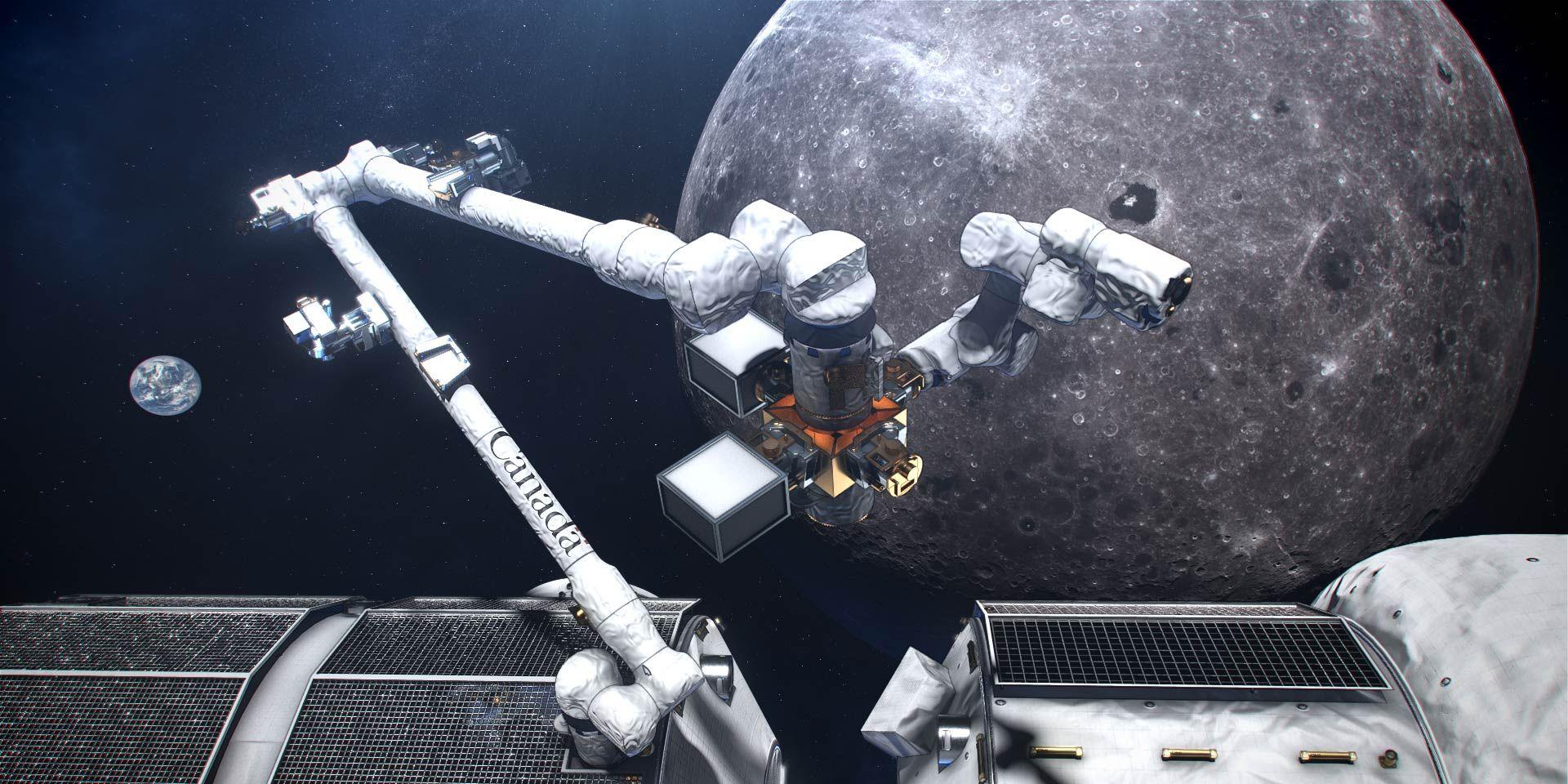 canadarm3 space moon canada arm