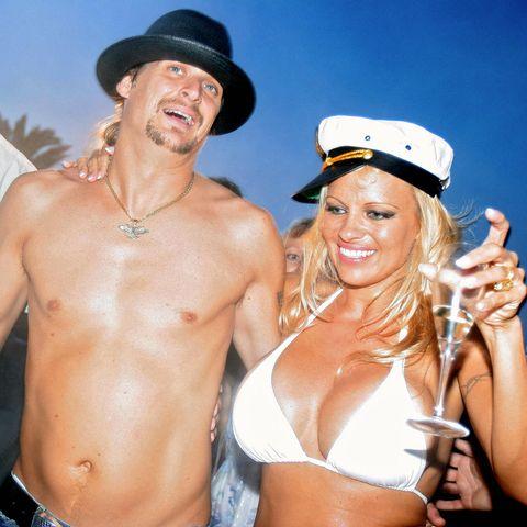Canadian actress Pamela Anderson (R) sha
