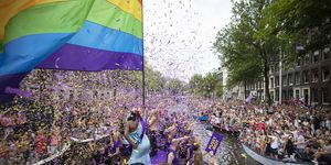 Gay Pride Canal Parade in Amsterdam