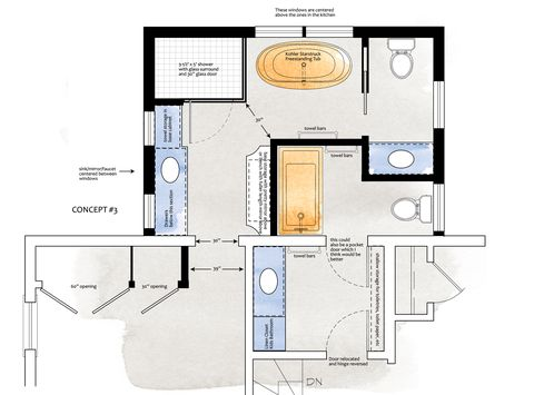 3 Bathroom Layouts Designers Love Bathroom Floor Plan Templates
