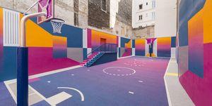 Cancha baloncesto Pigalle París ill studio