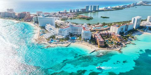 Cancun, Mexico from above