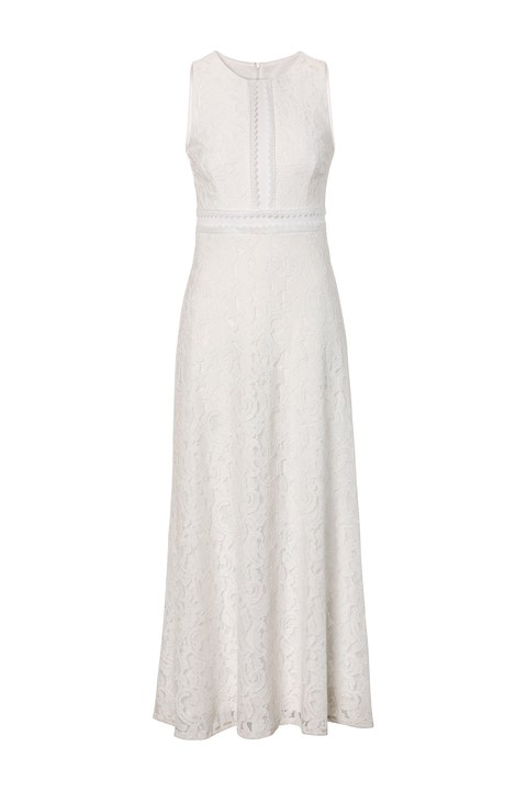 Clothing, Dress, White, Gown, Day dress, Cocktail dress, Bridal party dress, A-line, Neck, Strapless dress,