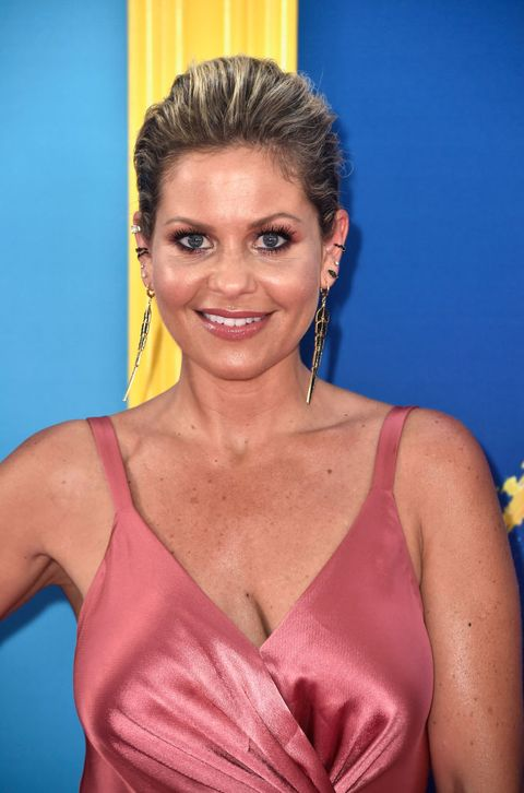 Candace Cameron Bure Wore A Pink Silk Dress To The Teen