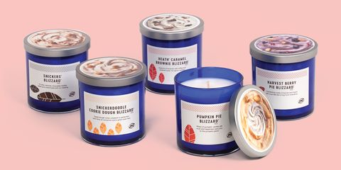 dq fall blizzard treat candle collection