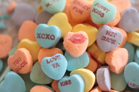Sweethearts, Sweetness, Confectionery, Heart, Candy, Food, Food coloring, Bonbon, Marshmallow,