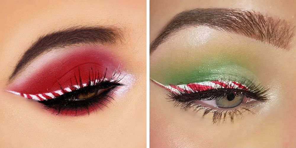 Candy Cane Eyeliner Will Make You a Walking Billboard for Christmas