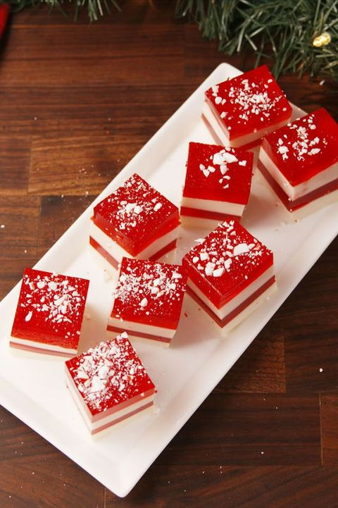 candy cane jello shots - christmas shots