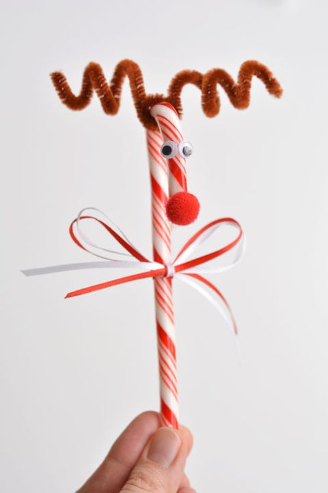 candy cane-reindeer bow