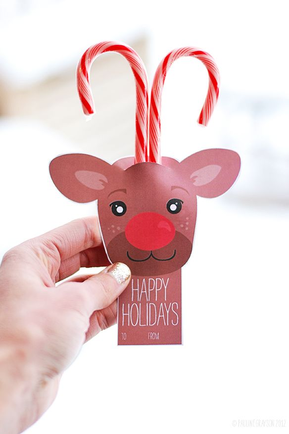 candy cane reindeer paper