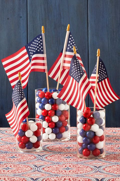 candy jars diy 4th of july decorations