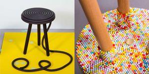 candy collection, designers, design, Kirstin Overbeck, snoepgoed, design geïnspireerd op snoep, snoep, stoel, kruk, lamp,
