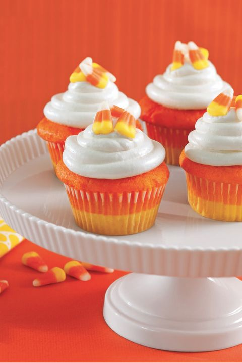 Candy Corn Cupcakes Recipe How To Make Candy Corn Cupcakes
