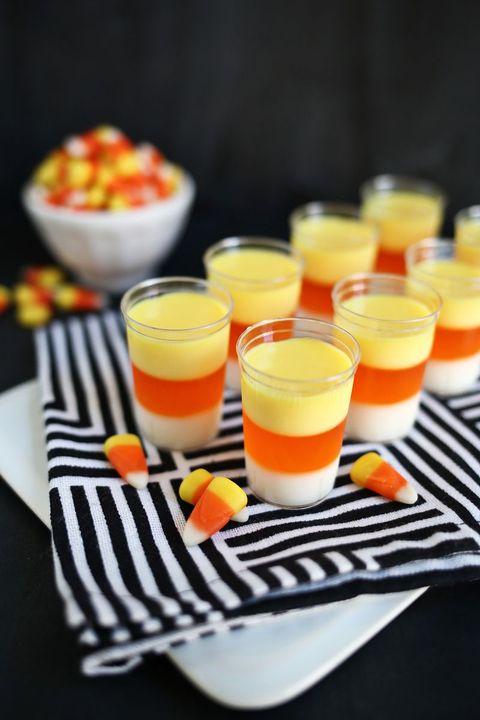 candy corn jell-o shots