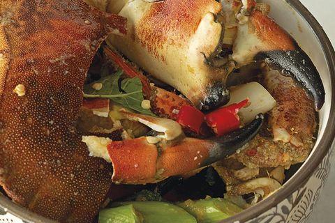 cangrejo frito picante con sambal