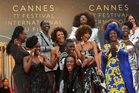 cannes, black actresses, balmain, dresses