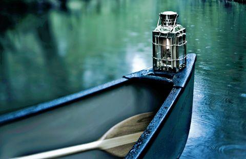 canoe in the dark