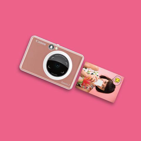 Cameras & optics, Camera, Pink, Digital camera, Lens, Camera lens, Material property, Photography, Gadget, Technology,