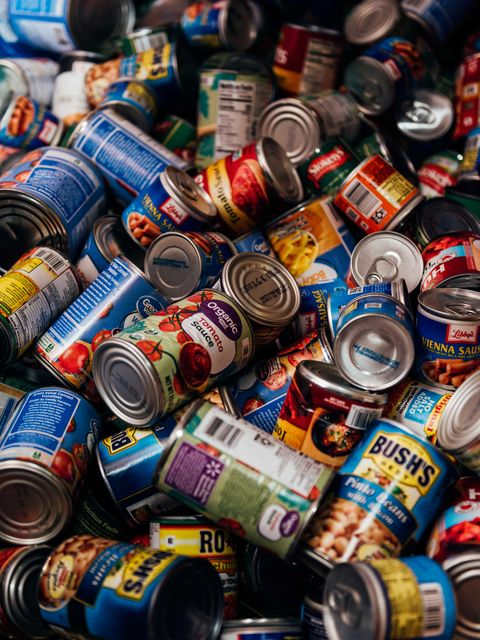 canned goods at a feeding america super site