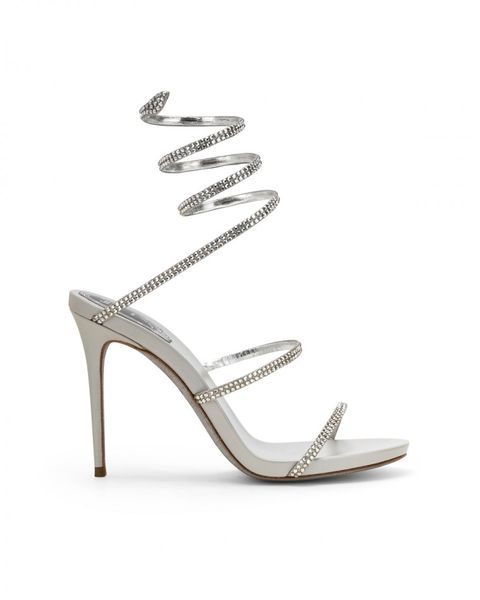 Footwear, High heels, Sandal, Slingback, Shoe, Bridal shoe, Basic pump, Court shoe, Beige, Silver,