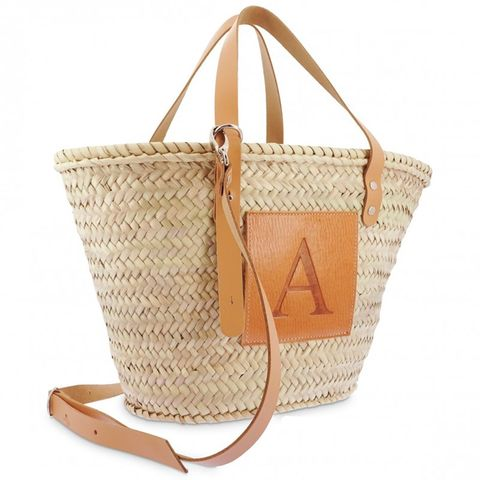 cesta de fibra, de bolsos y capazos