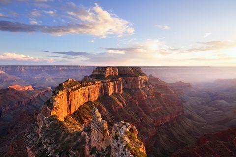 Cape Roya at Sunsetl, Grand Canyon North Rim