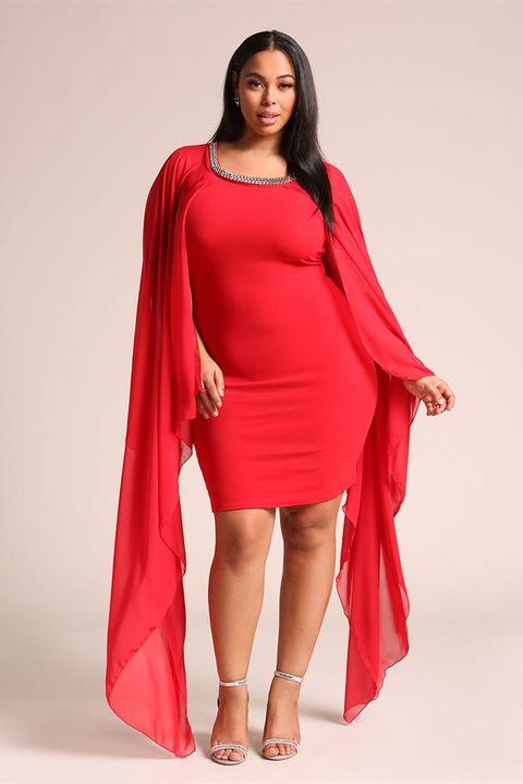 Clothing, Fashion model, Red, Dress, Shoulder, Pink, Fashion, Sleeve, Magenta, Formal wear,
