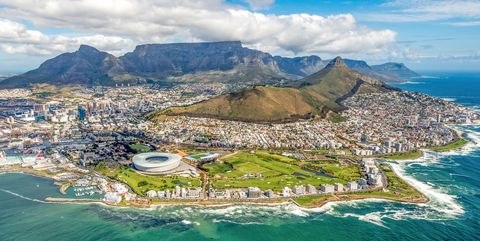 Cape Town and the 12 Apostels from above
