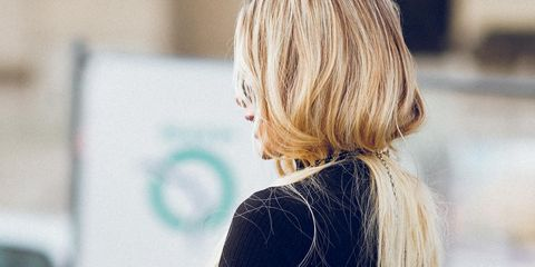Hair, Blond, Hairstyle, Street fashion, Beauty, Hair coloring, Shoulder, Long hair, Brown hair, Surfer hair,