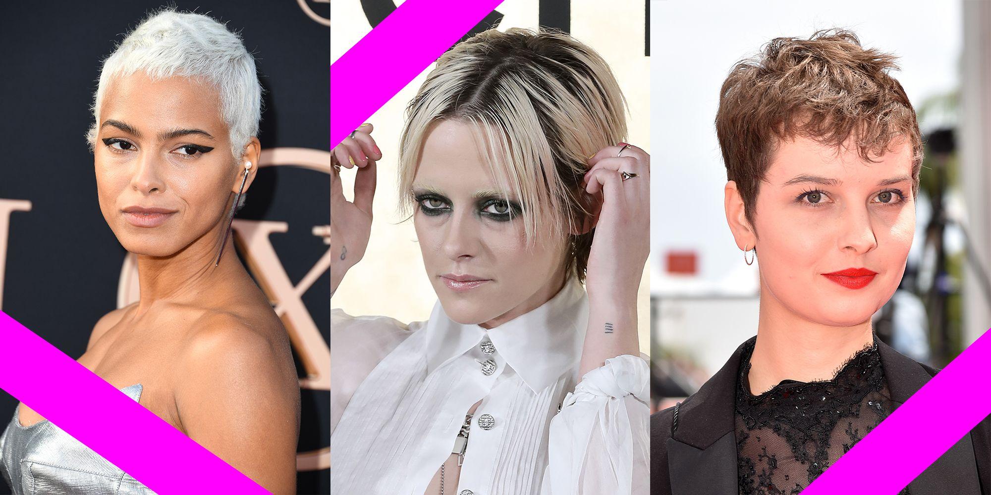 Immagini di tre celebrities con i capelli corti che danno l\u0027idea dei nuovi  tagli
