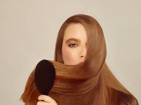 Lip, Cheek, Brown, Hairstyle, Eyebrow, Brush, Amber, Eyelash, Organ, Beauty,