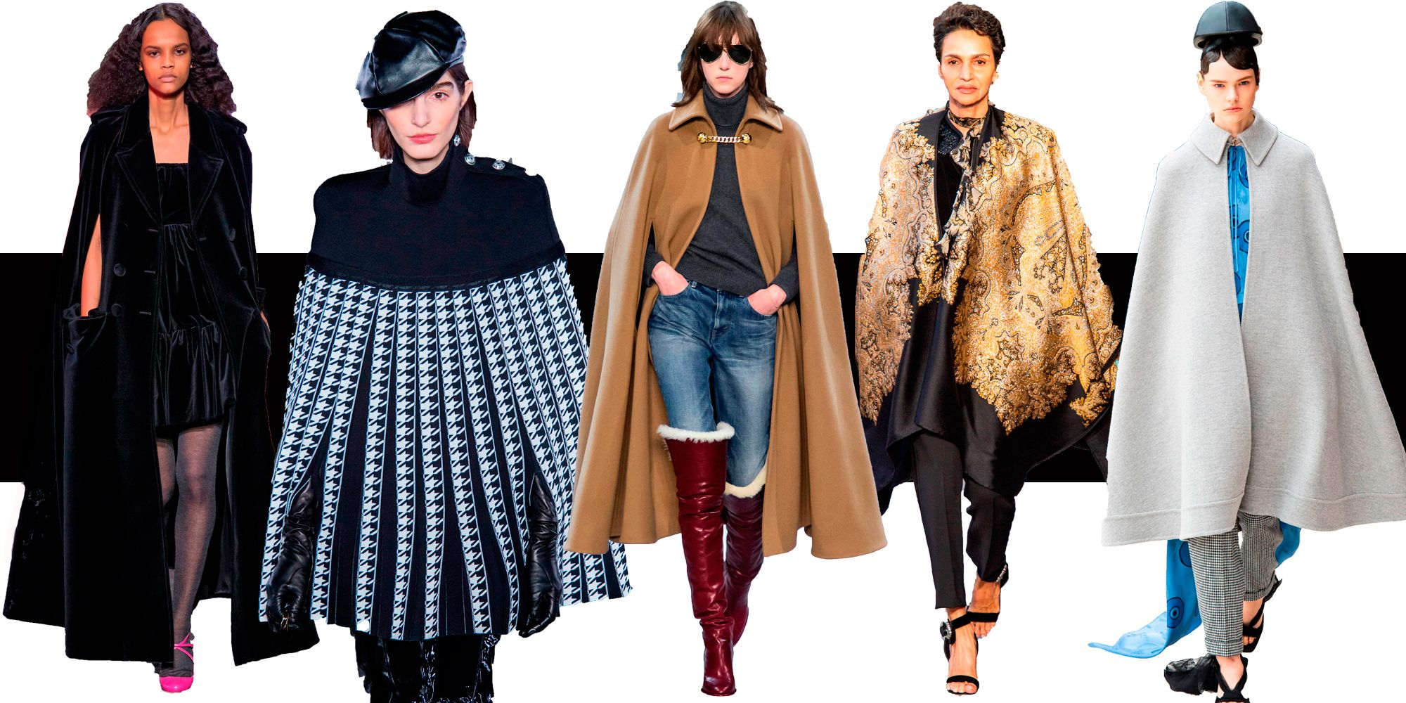 Capes dress for warm this winter