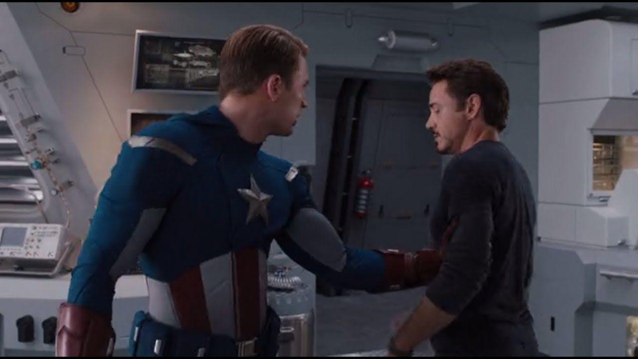 'Vengadores: Endgame' MashUp Capitán América Tony Stark Chasquido
